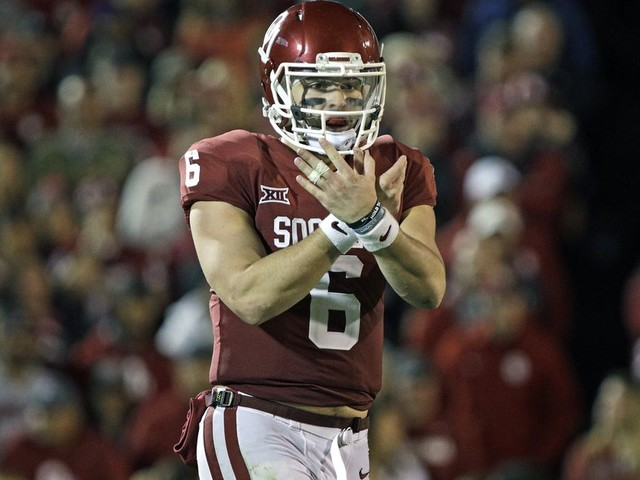 Baker Mayfield will not start Saturday vs. West Virginia following his antics during the Kansas game