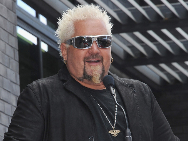 Guy Fieri's Walk of Fame afterparty was super weird
