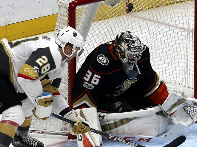 Ducks lose their momentum during a 4-2 loss to the Golden Knights