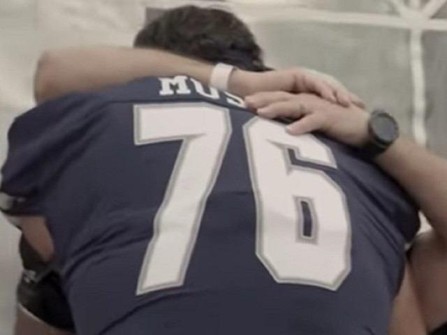 Watch: Touching moment Samford University football player honors his stepfather with name change