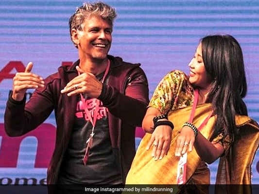 When Milind Soman Tried To Match Ankita Konwar's Bihu Dance Steps