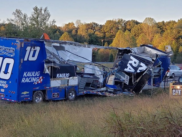 NASCAR Truck Suffers an Accident On the Way to the Circuit