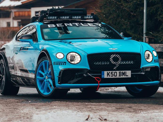 Bentley Previews A Snow-Prepped Continental GT In Austria