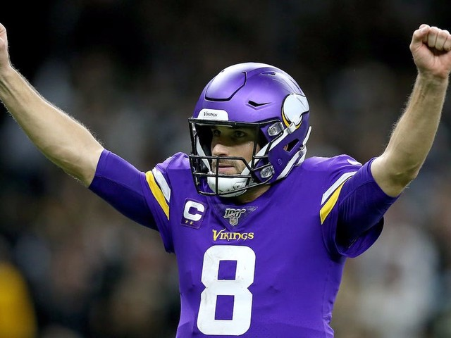 Kirk Cousins made the Vikings locker room erupt by shouting his signature phrase after huge upset over the Saints
