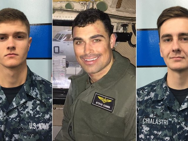 U.S. Navy IDs Sailors Missing in the Philippine Sea After Plane Crash