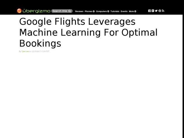 Google Flights Leverages Machine Learning For Optimal Bookings