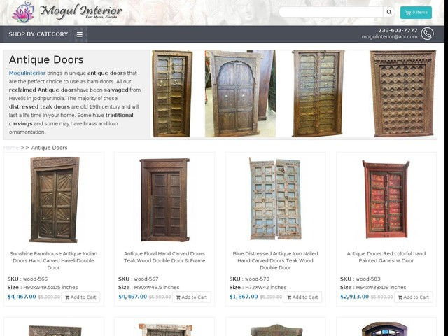 antique doors, rustic carved doors, ft myers, Florida - Mogulinterior