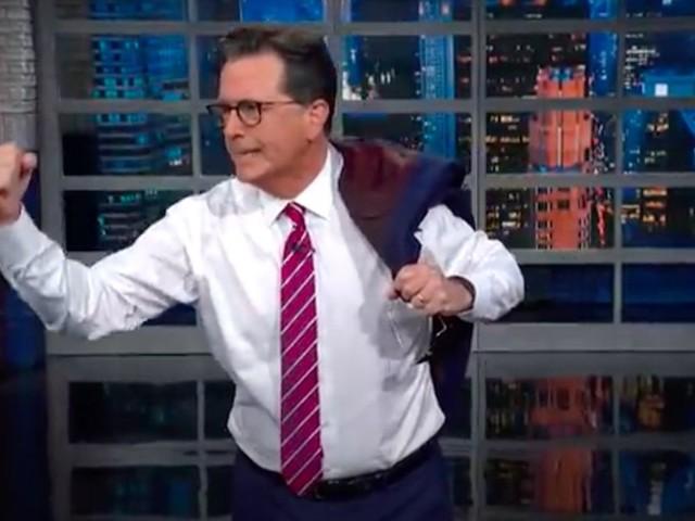 Stephen Colbert ribs Biden's 'Grandpa's had it with your lip' energy