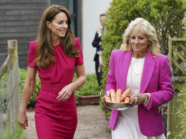 First lady Jill Biden, Kate Middleton tour Cornwall preschool