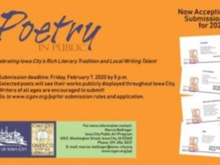 Poetry in Public 2020 Submissions Now Being Accepted