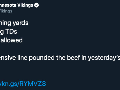 The Vikings really 'pounded the beef' and 12 other helpful football euphemisms
