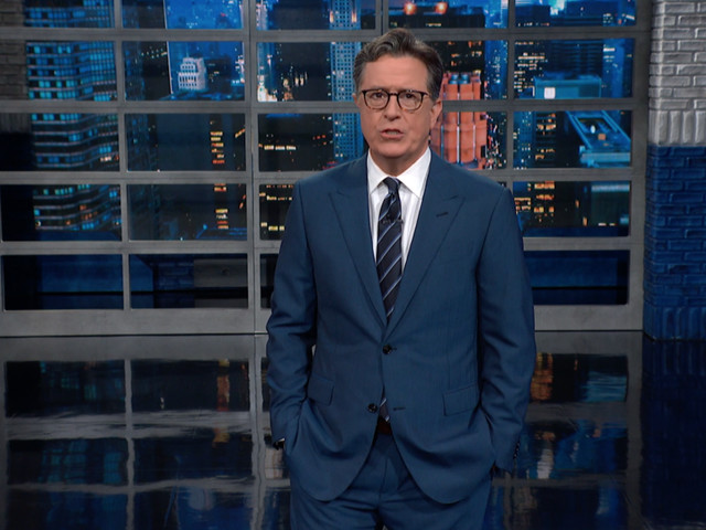 Stephen Colbert Thanks Award-Sweeper 'Ted Lasso' & 'Last Week Tonight' For Not Being In His Emmy Category So He Could Win