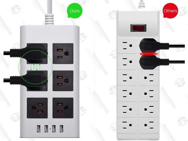 This $16 Power Strip Is Designed For Those Annoying, Oversized Plugs