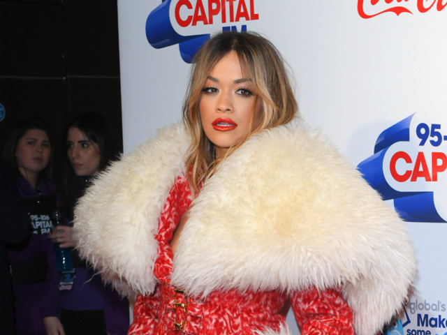 Rita Ora Looks Straight Out of the North Pole in Christmas-Inspired Number at Jingle Bell Ball