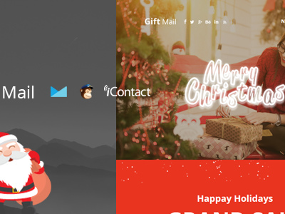 Gift Mail - Christmas Email Templates set + Online Access (Email Templates)