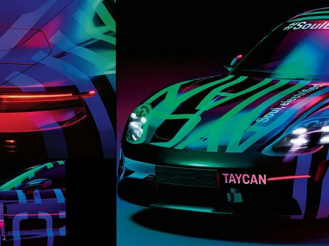 Porsche's Electric Taycan Shows Its Face On First Official Images
