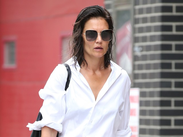 Katie Holmes' Menswear-Inspired Look Featured Her Go-To Loafers
