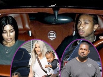 The Wests – Kanye, North, Saint & Kim – Go Ice Skating + Tyga & His 'Decoy' Kim K Boo Do Dinner In L.A.