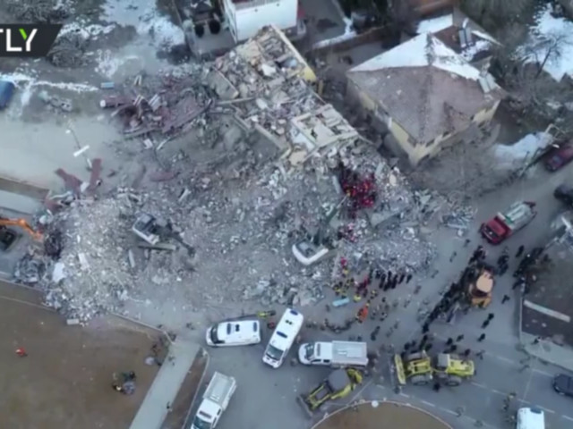 Drone captures aftermath of devastating earthquake in eastern Turkey (VIDEO)