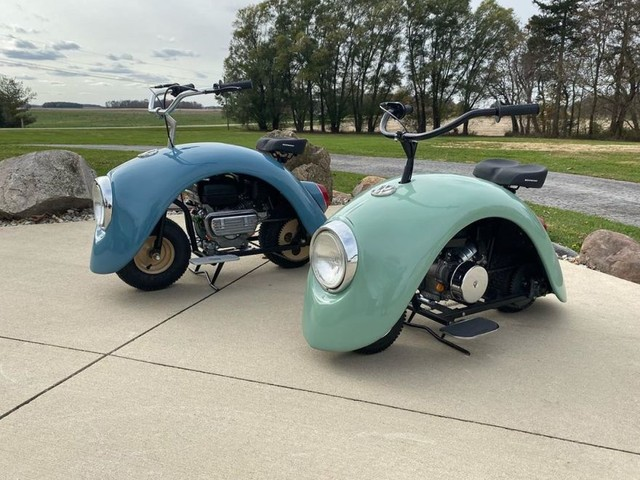 Minibikes Made from a Vintage Volkswagen Beetle