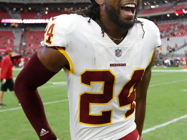 Redskins CB Josh Norman runs with bulls in Spain, leaps over one