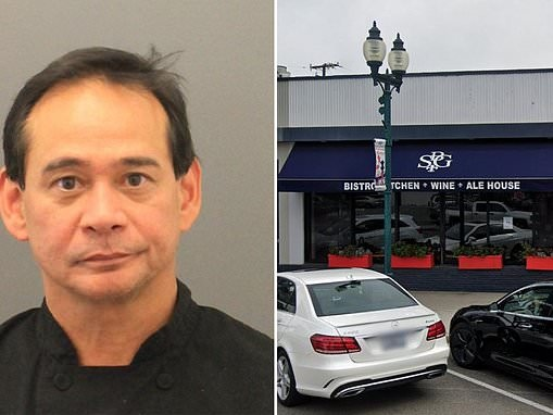 California chef 'drugged and raped' female member of the military