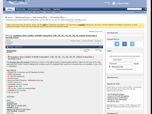 Evolution Host | KVM | ★FROM €3/month★ | UK, FR, DE, CA, US, AU, PL | DDoS Protection | 99.95% U-SLA