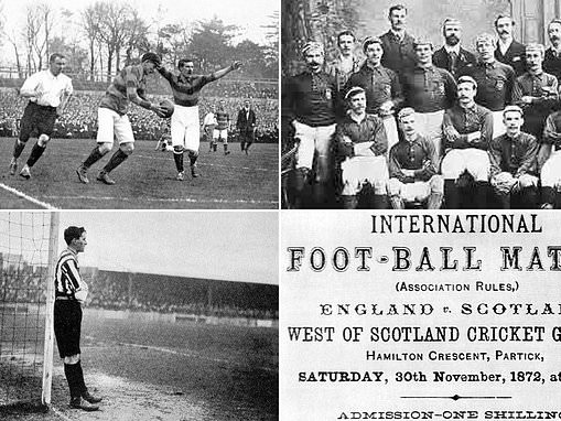 Photographs show some of the earliest clashes between England and Scotland