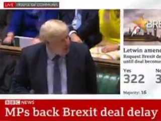 Chaos: In Latest Humiliation For PM Johnson, UK Parliament Votes To Delay Decision On Brexit Deal