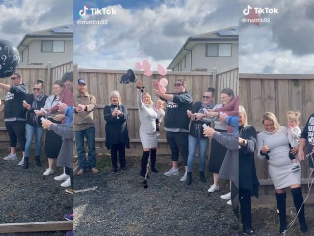 'I hope his daughter doesn't see this when she's older': TikTok video of dad's reaction to gender reveal has viewers outraged
