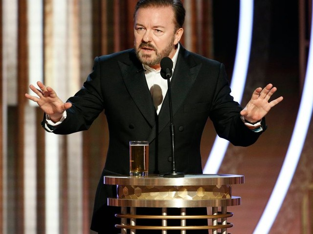 Ricky Gervais issues sharp rebuke to media after it criticizes his viral Golden Globes speech bashing Hollywood liberals