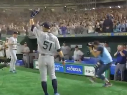 Ichiro retired after a game in Tokyo, and the moment was perfect