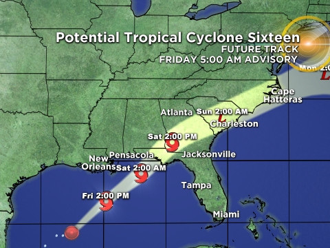 Tropical Storm Force Winds From Disturbance To Reach Northern Gulf Coast On Friday