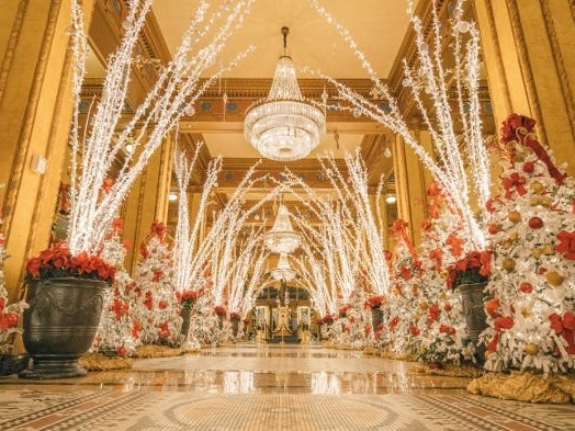 These hotels across the US go all out with their Christmas decorations