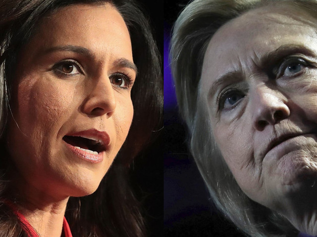 Tulsi Gabbard fires back a challenge to Hillary Clinton, calls her the 'queen of warmongers'