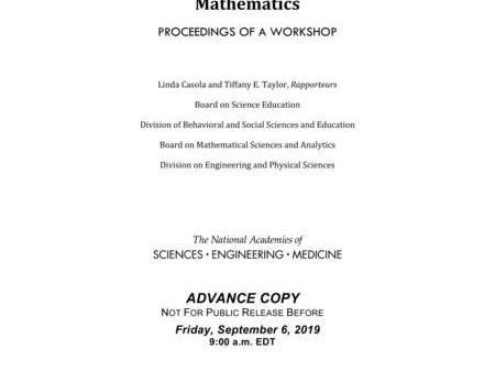 Increasing Student Success in Developmental Mathematics: Proceedings of a Workshop