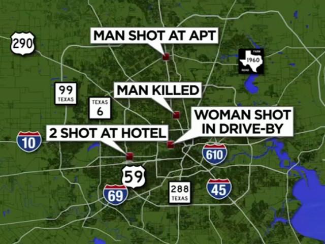 5 shot, 1 dead in multiple overnight shootings across Houston