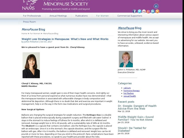 Weight Loss Strategies in Menopause: What's New and What Works
