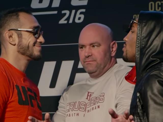 UFC 216: Ferguson vs. Lee media day staredowns video
