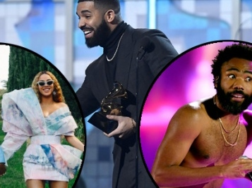 GRAMMY WINNERS CIRCLE: Drake Pisses Off The Grammys, Childish Gambino Gets Historic Record Of The Year Win (Plus 3 More) + The Carters, Cardi & Full List!