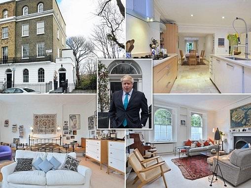 The £3million Islington end-of-terrace former marital home of Boris Johnson