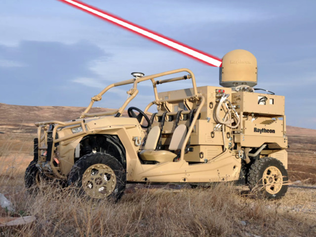 Raytheon's Laser-Dune-Buggy Blasts Drone-Swarm Out Of The Sky