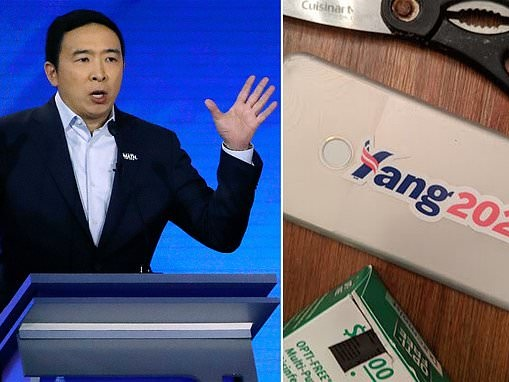 Andrew Yang teases he will take another stab at the presidency with a 2024 sticker