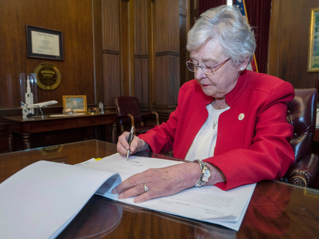 Alabama governor signs bill banning nearly all abortion