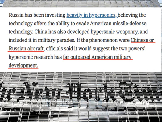MSM Wastes No Time Using Senate UFO Report To Promote Arms Race