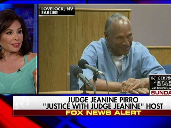 OJ Simpson Trial Judge Jeanine Pirro Calls Him Delusional on Hannity