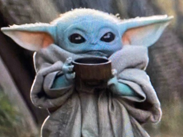 Baby Yoda drinking soup is the latest incarnation of the 'sipping tea' meme