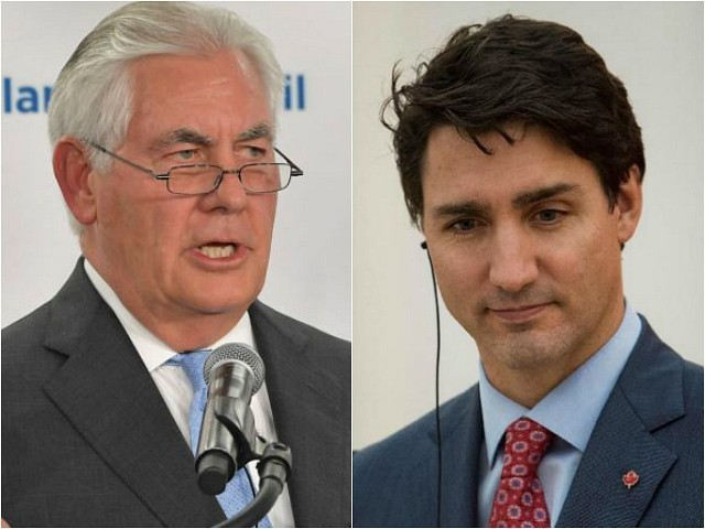 Report: Tillerson to Meet Canadian PM Justin Trudeau for North Korea Talks