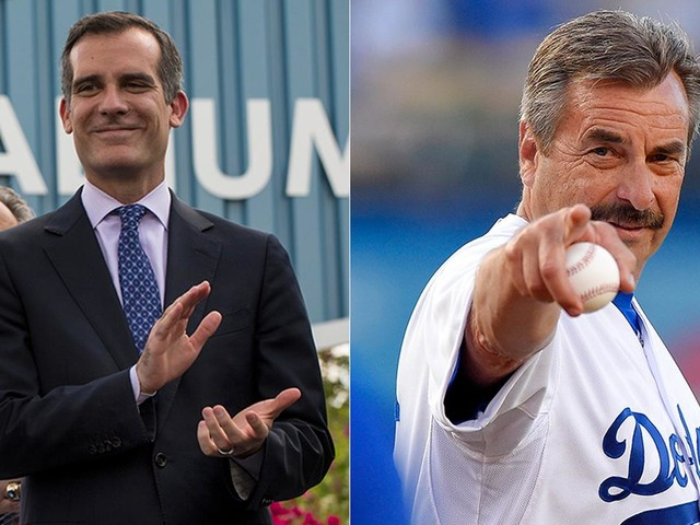NLCS: Garcetti, Beck place friendly wagers with Chicago counterparts as Dodgers take on Cubs