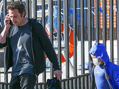 Ben Affleck Swaps Movie Beard For Fresh Shaven Look As He Picks Son Samuel, 9, Up From Swim Lessons